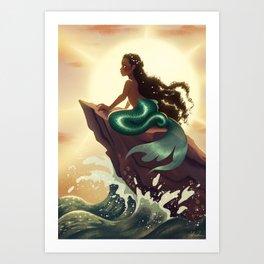 Sunset Siren Art Print