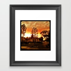 Sky at dusk. Framed Art Print