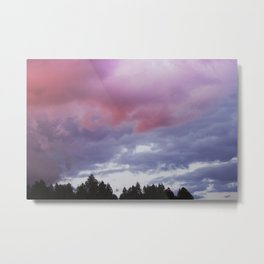 CLOUDS FROM A LITTLE STORM Metal Print