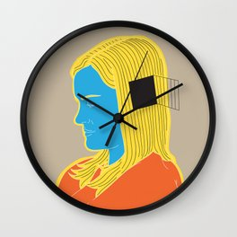 Cell in her head Wall Clock