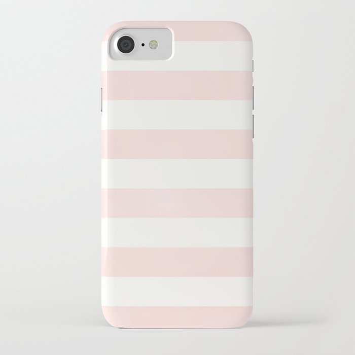 Pink Coral Stripes iPhone Case