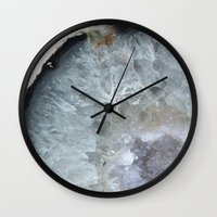 geode Wall Clocks featuring Agate Geode  by CAROL HU