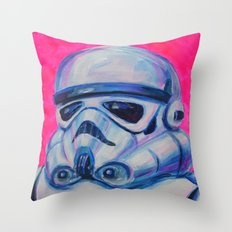 stormtrooper baby Throw Pillow