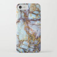 neon genesis evangelion iPhone & iPod Cases featuring Marble by Patterns and Textures