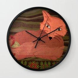 Fiber Fox Wall Clock