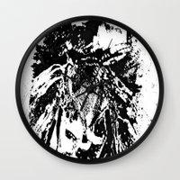 moth Wall Clocks featuring Moth by Shane R. Murphy