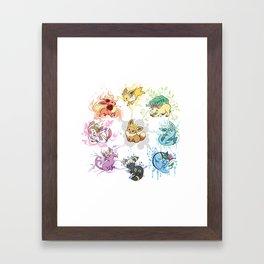 Eeveelutions Framed Art Print