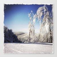 ski Canvas Prints featuring Ski  by David Nadeau