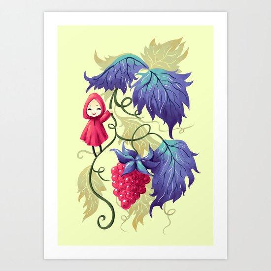 Raspberry Art Print