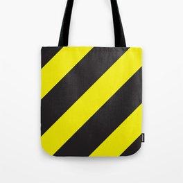 Black and yellow diagonal lines Big Tote Bag