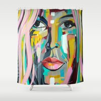 native Shower Curtains featuring Native by MelissaBeaulieu