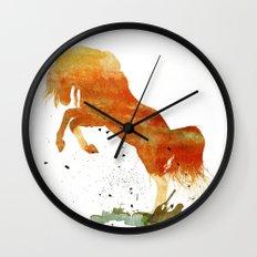 HORSES -Wild mountain pony Wall Clock
