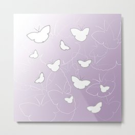 Butterflies | lilac color Metal Print