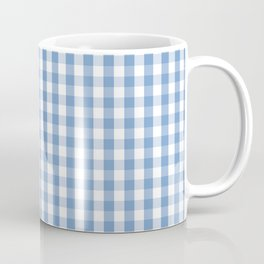 Classic Pale Blue Pastel Gingham Check Coffee Mug