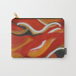 Autumn Wisps Abstract Acrylic Art Carry-All Pouch