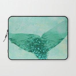 A Mermaid's Tail III, painterly coastal art, aqua metal Laptop Sleeve