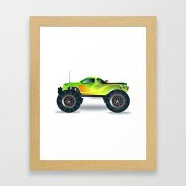 Monster Truck Toy Design Framed Art Print