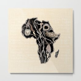 Abstract Africa Metal Print