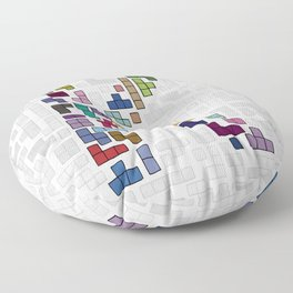 letter k - gaming blocks Floor Pillow