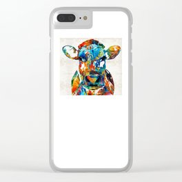 Colorful Cow Art - Mootown - By Sharon Cummings Clear iPhone Case