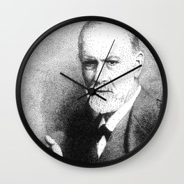 Sigmund Freud (Pen Pointillism) Wall Clock