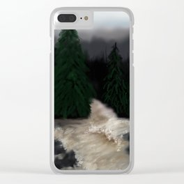 Rushing River Clear iPhone Case