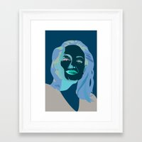 angelina jolie Framed Art Prints featuring Angelina Jolie by Claudia Noronha
