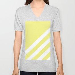 Simple Lines, Light Yellow Unisex V-Neck
