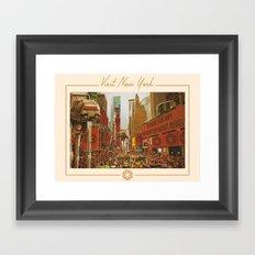 Visit New York Framed Art Print