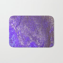 Blue Abstract Sparkly Design Bath Mat