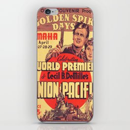 Vintage poster - Union Pacific iPhone Skin