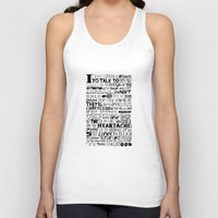 word Tank Tops featuring Word by Etiquette