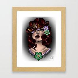 Moth Girl Framed Art Print