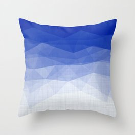 Imperial Lapis Lazuli - Triangles Minimalism Geometry Throw Pillow