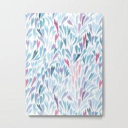 Mermaid Tails Watercolour | Twilight Palette Metal Print
