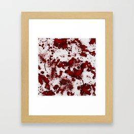 Blood Stains Framed Art Print