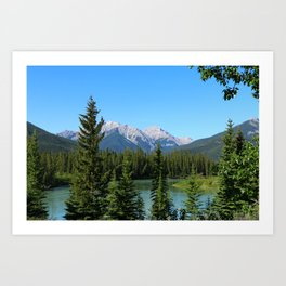 Along The Bow Valley Parkway Art Print