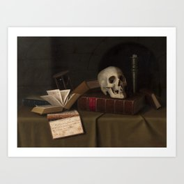 "Memento Mori, ""To This Favour"" by William Michael Harnett Art Print"
