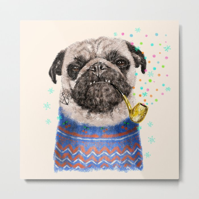 Mr.Pug II Metal Print