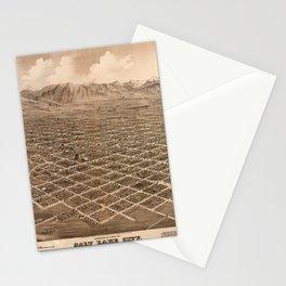Map Of Salt Lake City 1875 Stationery Cards