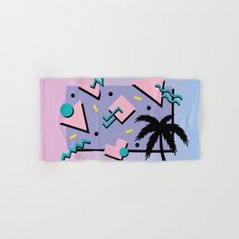 Memphis Pattern 25 - Miami Vice / 80s Retro / Palm Tree Hand & Bath Towel