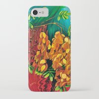 "cassia beck iPhone & iPod Cases featuring ""Cassia"", Fine Art Print, Oil painting, flowers painting, yellow, floral wall decor, flowers art by Adriana Calcines"