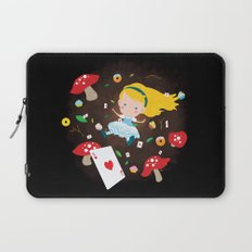 Alice Falling Down the Rabbit Hole Laptop Sleeve