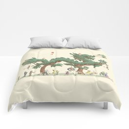 The Night Gardener - Dragon Topiary  Comforters