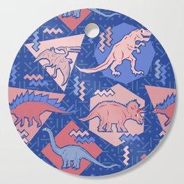 Nineties Dinosaurs Pattern  - Rose Quartz and Serenity version Cutting Board