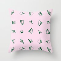 diamonds Throw Pillows featuring DIAMONDS by ZARYA