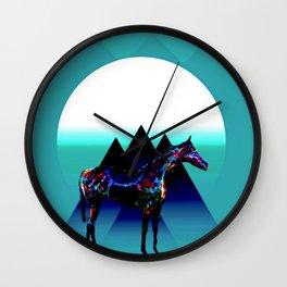 Painted Pony Wall Clock
