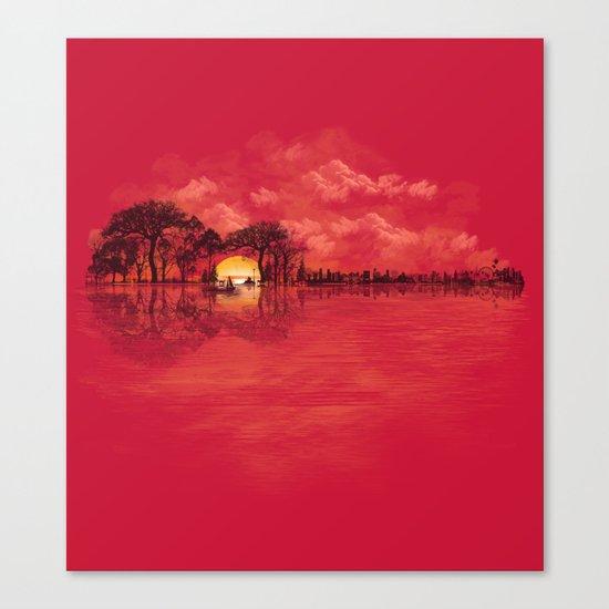 Musical Sunset Canvas Print