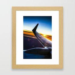 Sleek Jet Twilight Framed Art Print