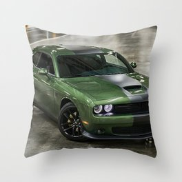Challenger Stars and Stripes Edition Throw Pillow